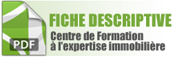Fiche descriptive Centre de Formation à l'Esxpertise immobiliere
