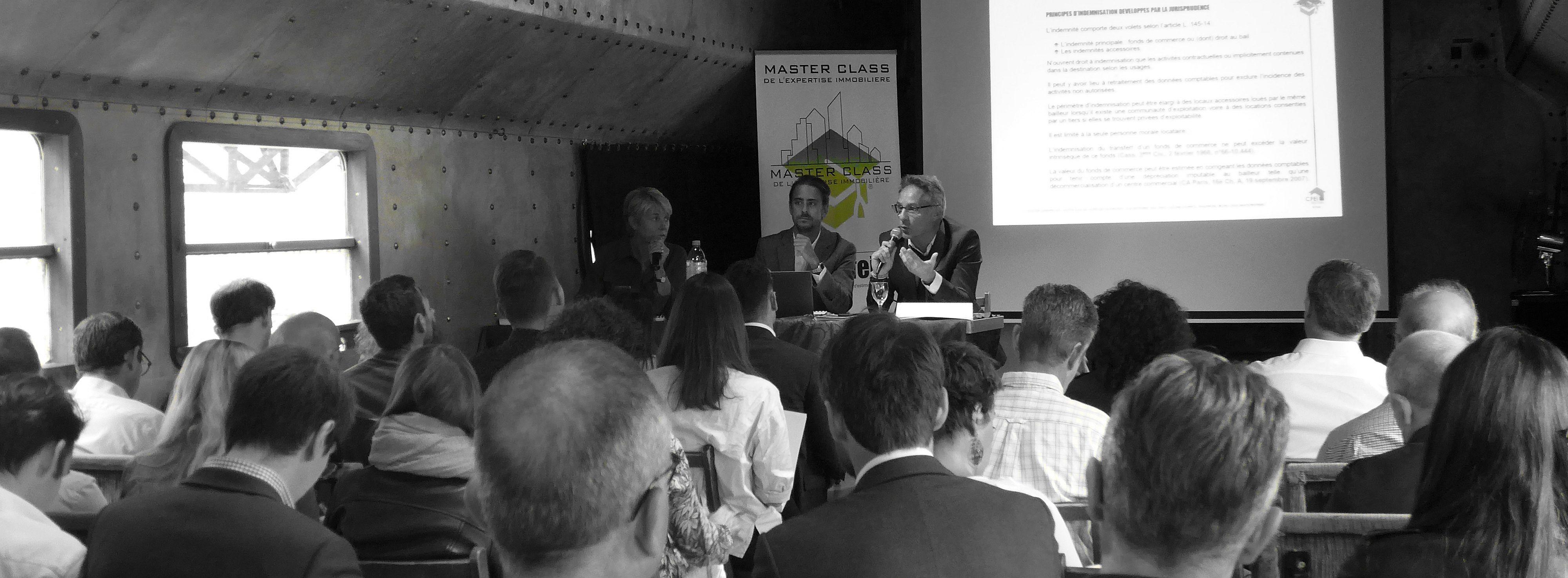Intervention de Philippe FAVRE-REGUILLON expert immobilier lors de la Master class expertise immobilière sur le thème de l'eviction commerciale
