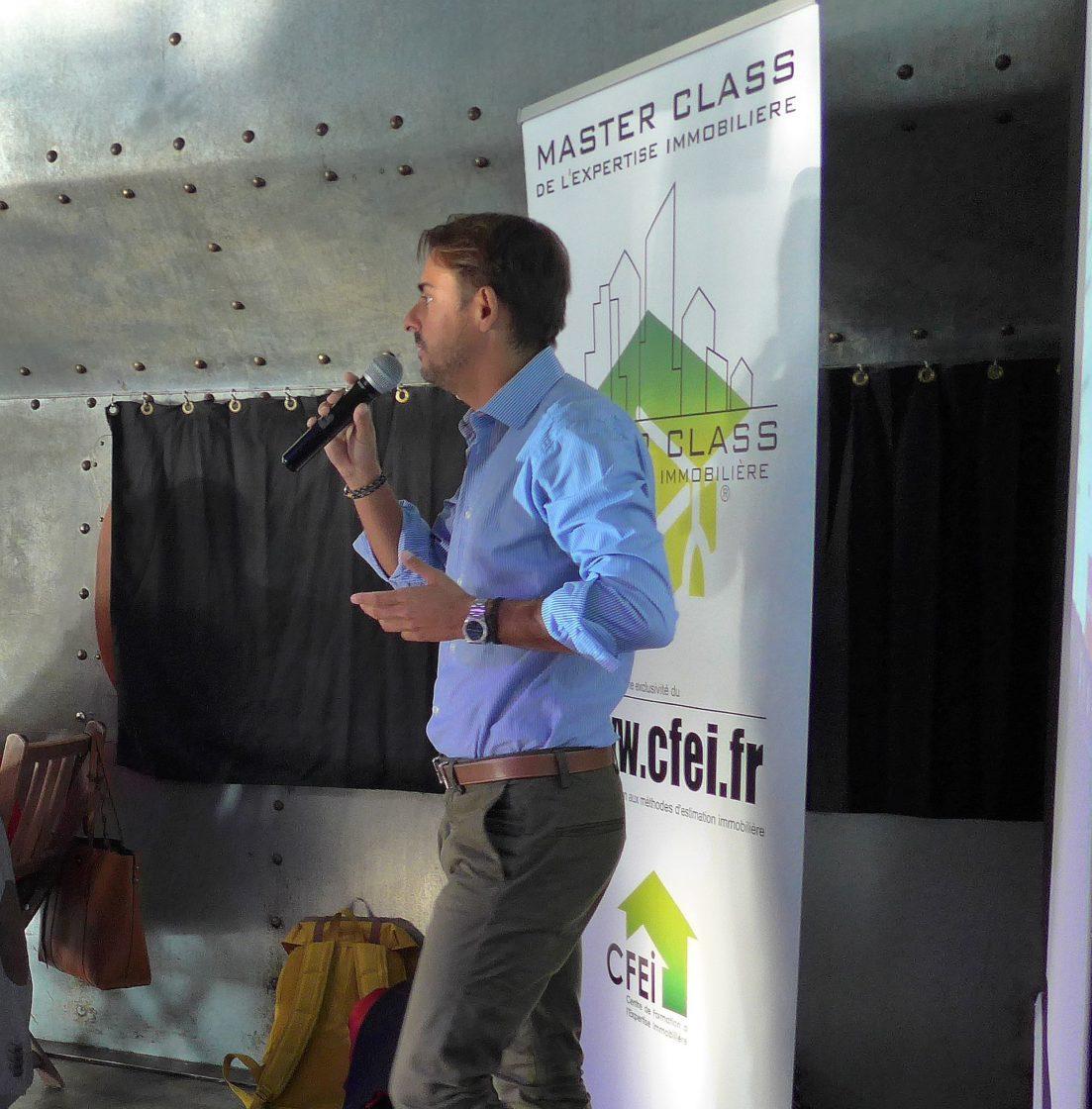 Intervention de Raphaël GARRAUD lors de la Master class de l'expertise immobilière, Centre de formation à l'expertise immobilière