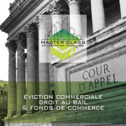"""Master class® """"Eviction commerciale"""", inscriptions en cours"""