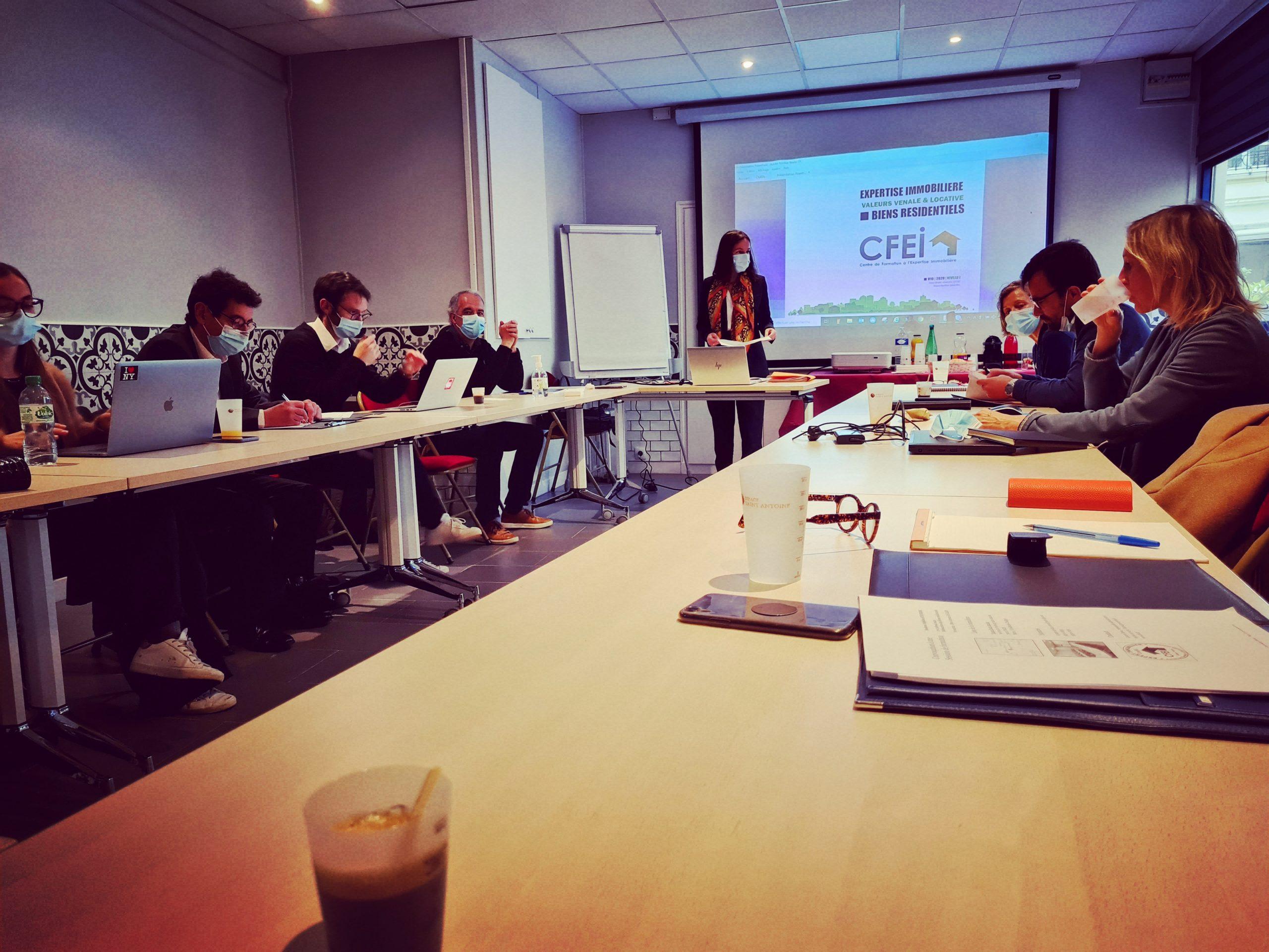 Intervention de Garance GOUJARD, formatrice-experte lors de la session parisienne du CFEI : évaluation des biens résidentiels